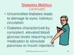 diabetes mellitus continued1