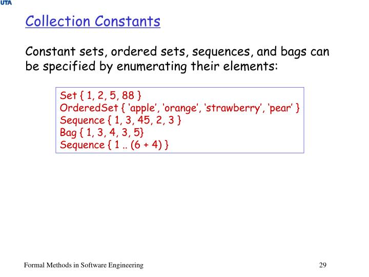 Collection Constants