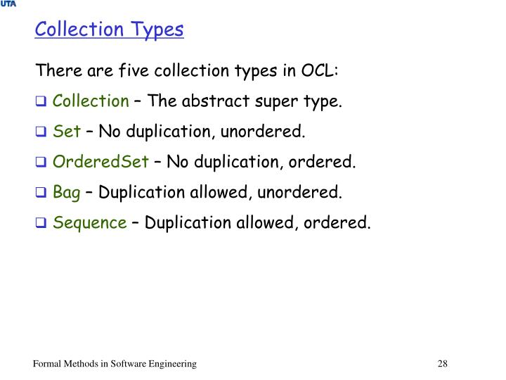 Collection Types