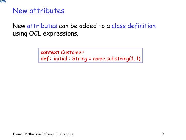 New attributes
