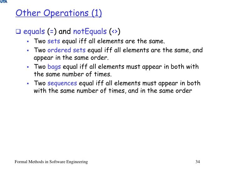 Other Operations (1)