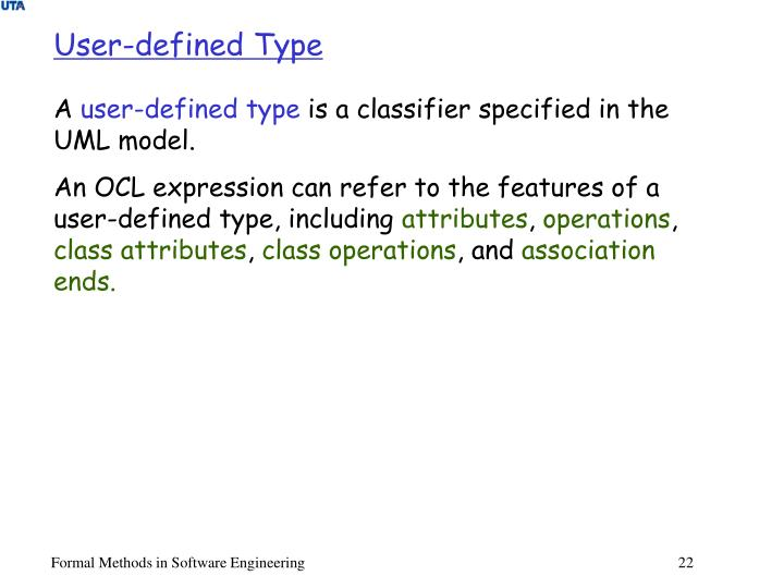 User-defined Type