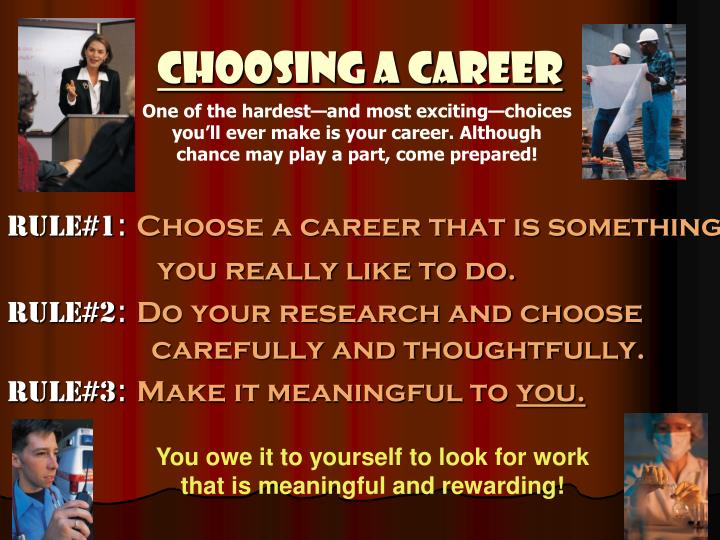 a description of choosing a career in botany ensuring a persons a wide choice of career opportunitie How to become a counselor - degree and career guide navigate this page find schools » what do counselors do salary & job.