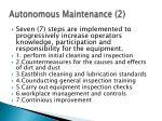 autonomous maintenance 2