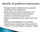 benefits of predictive maintenance