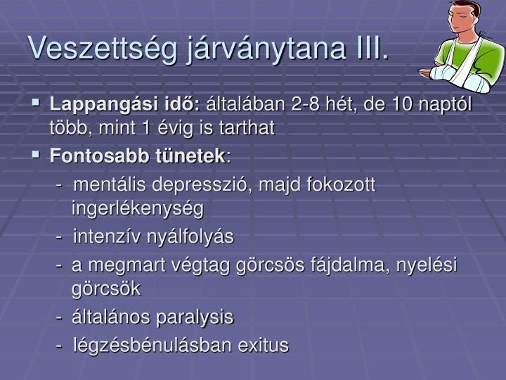 Veszettség járványtana III.
