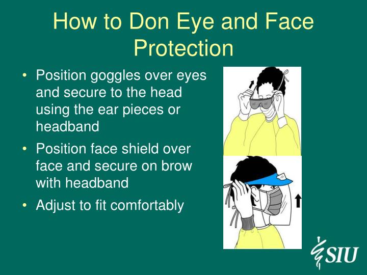 How to Don Eye and Face