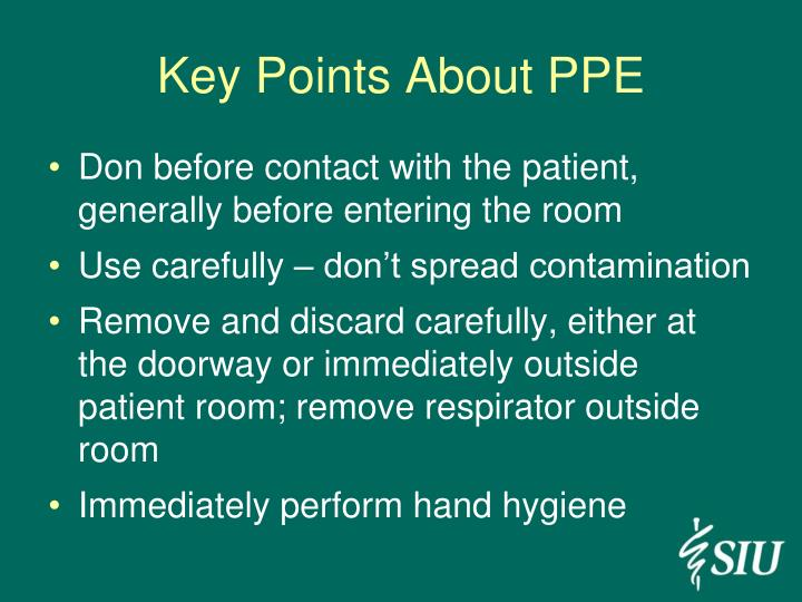 Key Points About PPE