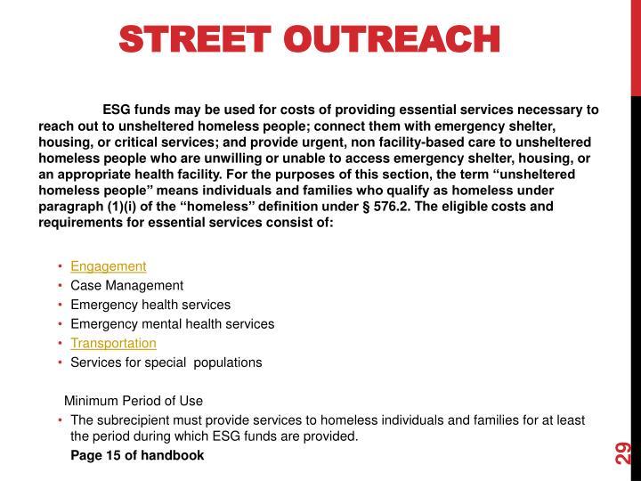 Street Outreach