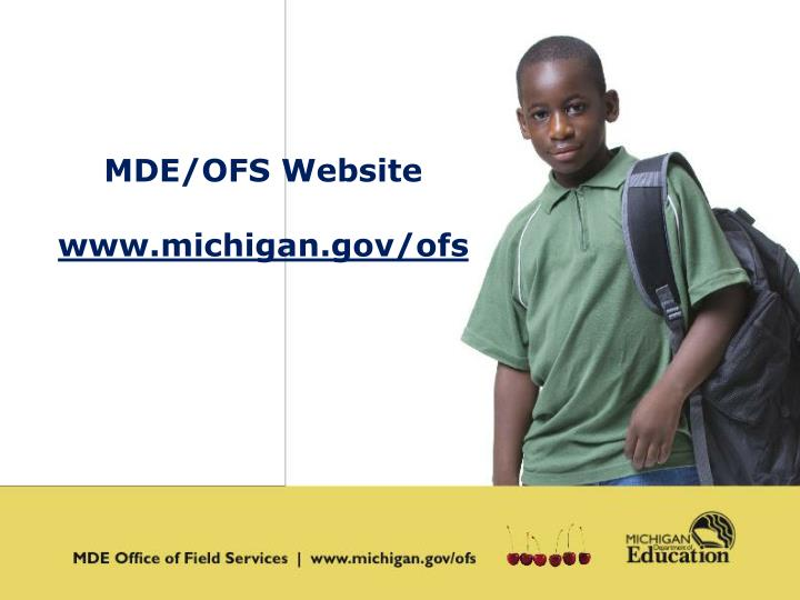 MDE/OFS Website