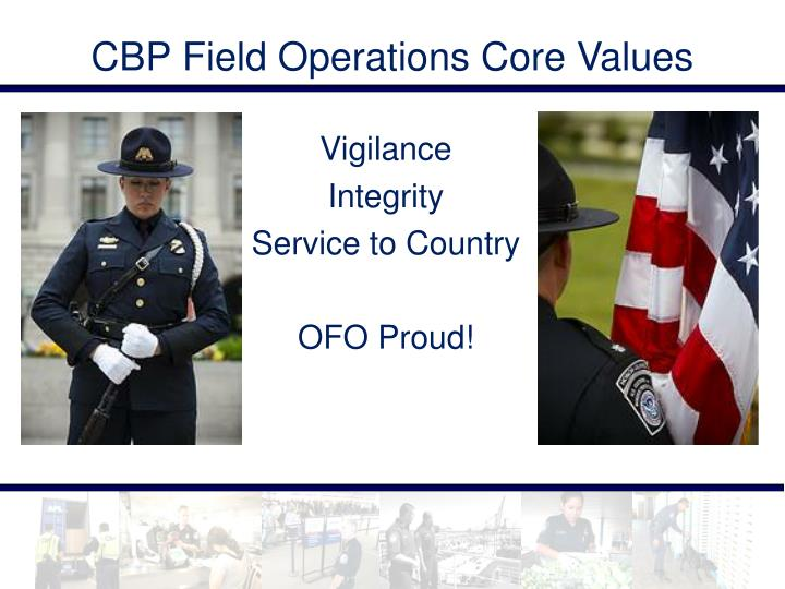 CBP Field Operations Core Values