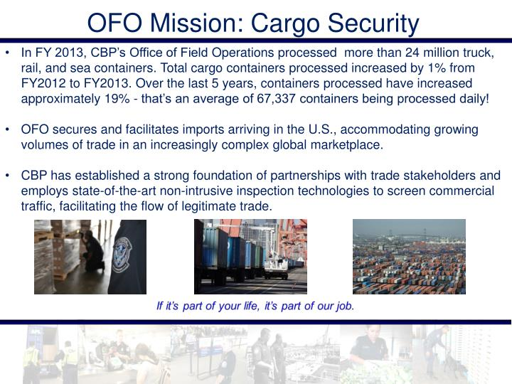 OFO Mission: Cargo Security