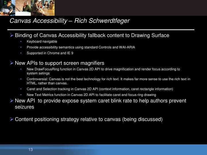 Canvas Accessibility – Rich Schwerdtfeger