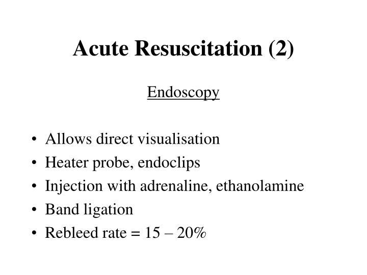 Acute Resuscitation (2)