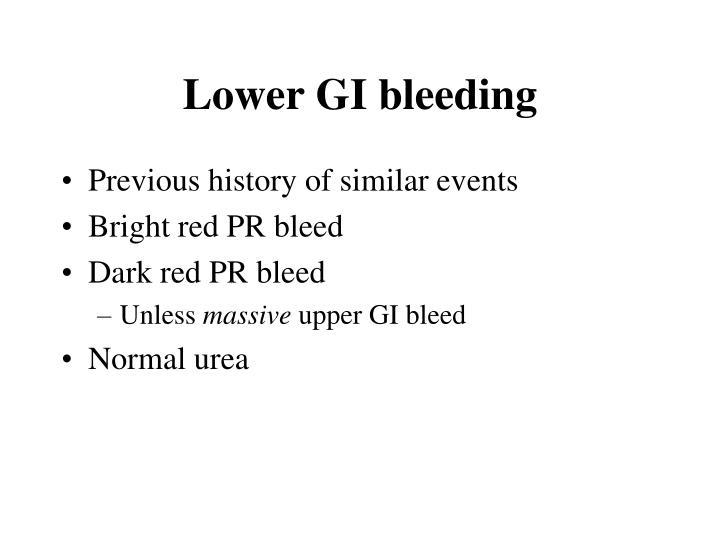 Lower gi bleeding