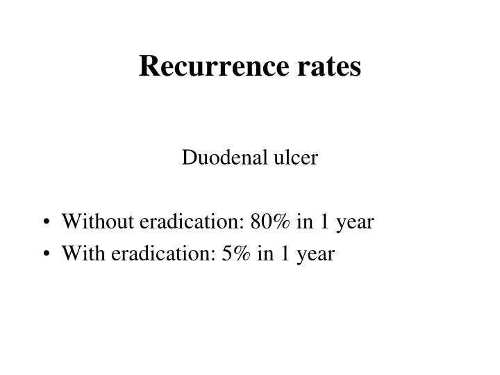 Recurrence rates