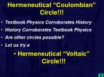 hermeneutical coulombian circle