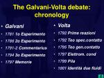 the galvani volta debate chronology
