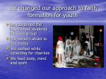 we changed our approach to faith formation for youth