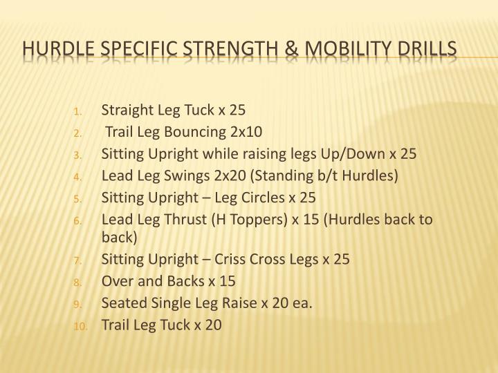 Straight Leg Tuck x 25