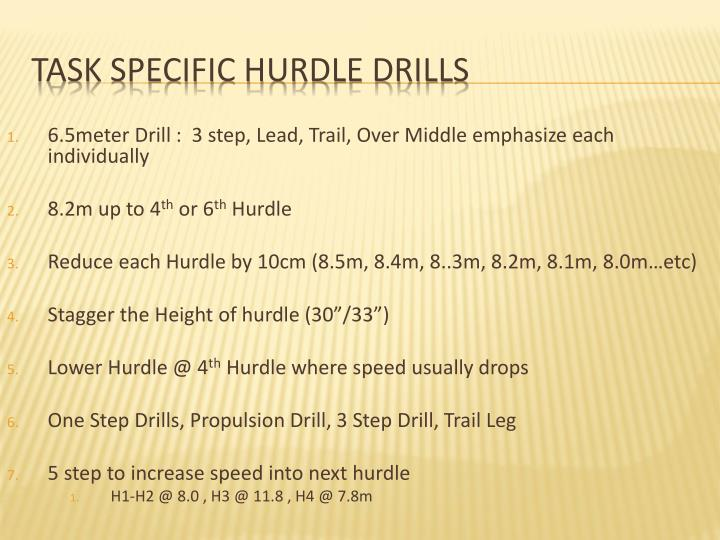 6.5meter Drill :  3 step, Lead, Trail, Over Middle emphasize each individually