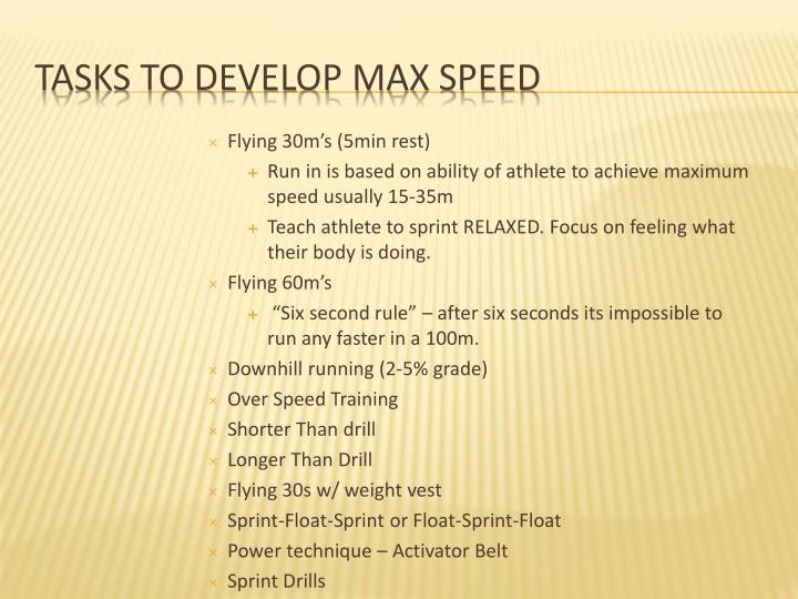 Flying 30m's (5min rest)