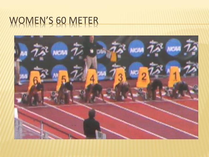 Women's 60 meter