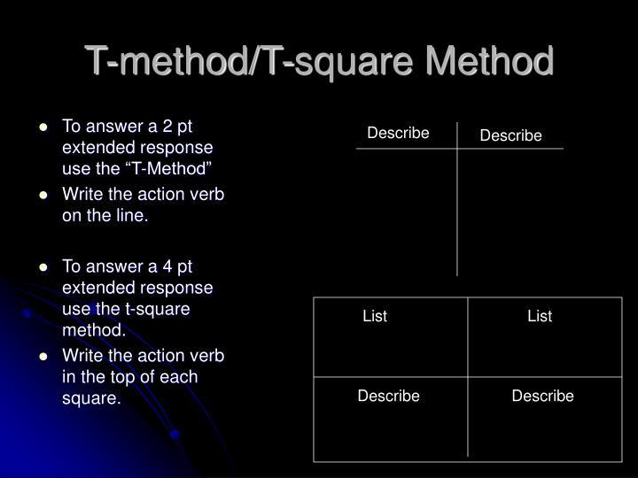 T method t square method