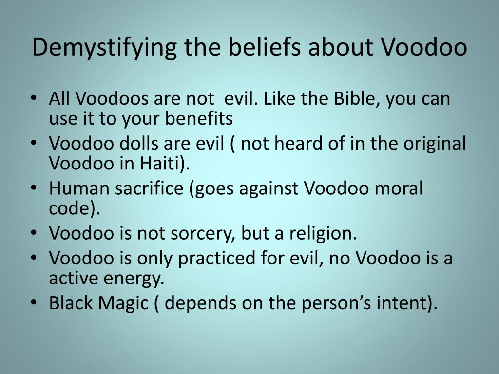 PPT - What is the meaning of Voodoo? PowerPoint Presentation