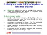 1 study and make list of enterprises in thanh hoa province