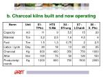 b charcoal kilns built and now operating