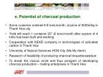 e potential of charcoal production