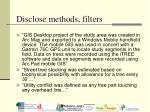disclose methods filters
