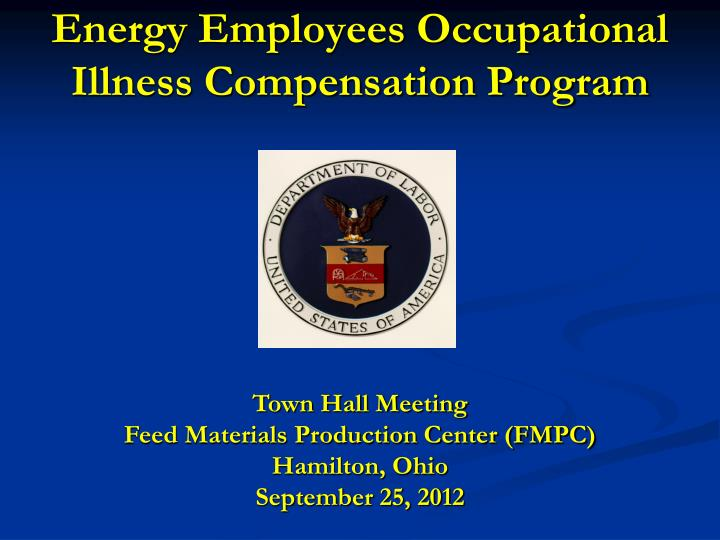 energy employees occupational illness compensation program n.