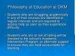 philosophy of education at okm2