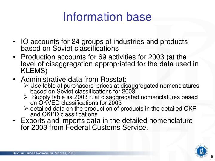 Information base