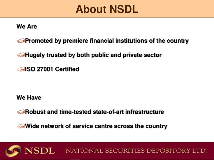 About nsdl