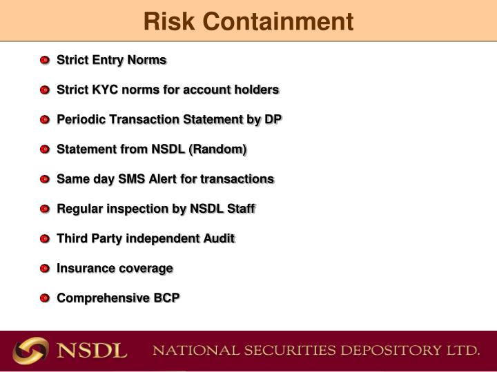 Risk Containment
