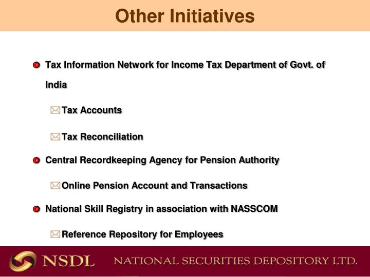 Tax Information Network for Income Tax Department of Govt. of India