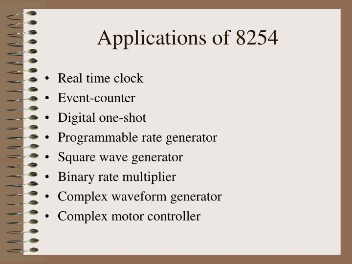 Applications of 8254