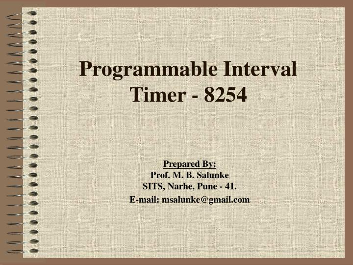 Programmable interval timer 8254