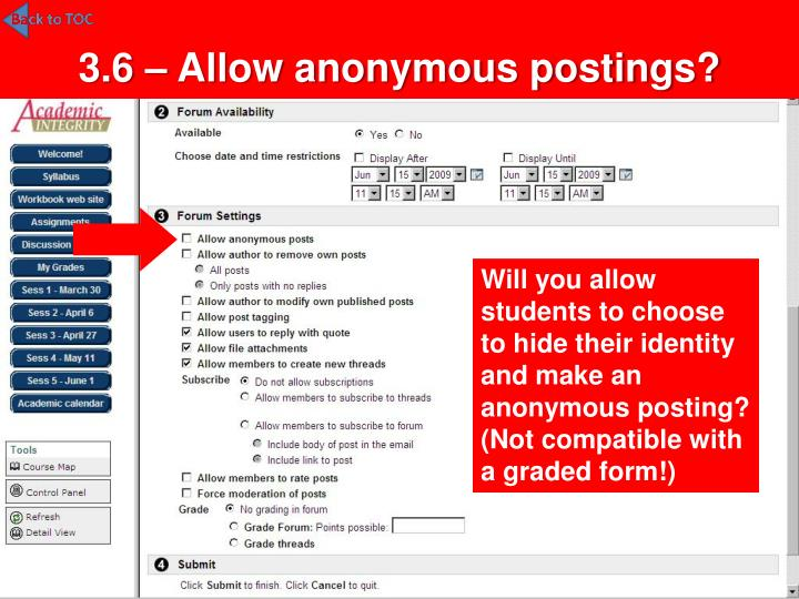 3.6 – Allow anonymous postings?
