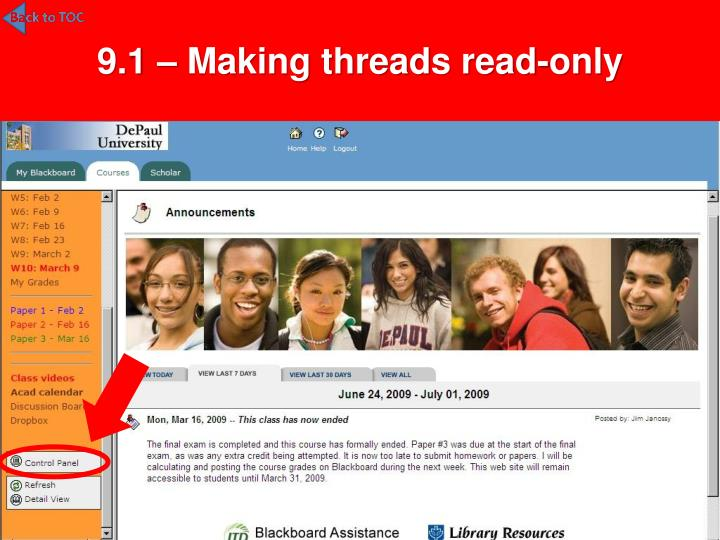 9.1 – Making threads read-only