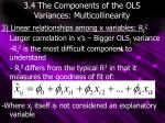 3 4 the components of the ols variances multicollinearity2