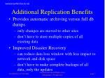 additional replication benefits