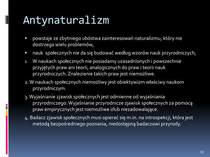 Antynaturalizm