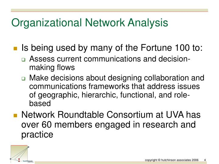 Organizational Network Analysis