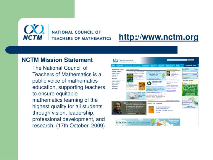 Http www nctm org