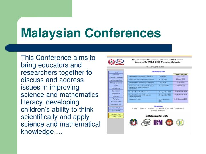 Malaysian Conferences