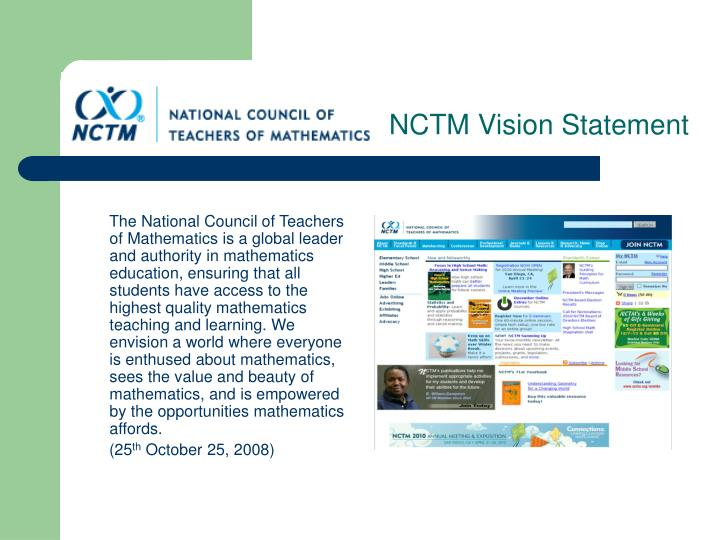 Nctm vision statement